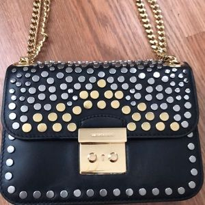 Studded black Michael Kors bag